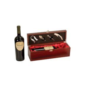 Rosewood Finish Single Wine Presentation Box