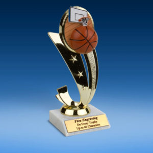 Basketball Colored Sport Scene Trophy-0