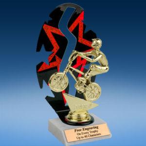 BMX Sport Figure Backdrop Trophy-0