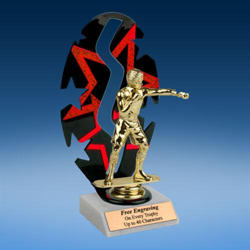 Boxing Sport Figure Backdrop Trophy-0