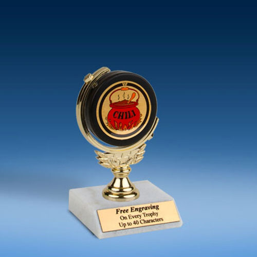 "Chili Soft Spinner Mylar Holder Trophy 6""-0"