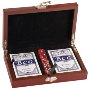 Rosewood Card & Dice Set
