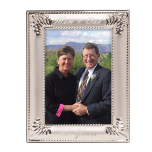 Seashell Silver Laserable Photo Frame