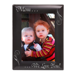 Smooth Black Laserable Photo Frame