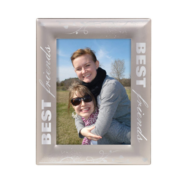 Smooth Silver Laserable Photo Frame