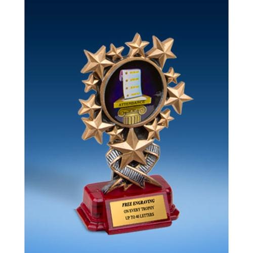 Attendance Resin Starburst Award