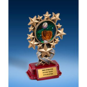 Baseball 2 Resin Starburst Award