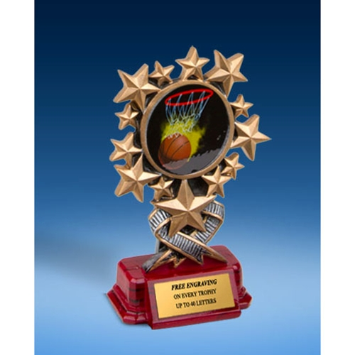 Basketball 1 Resin Starburst Award