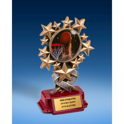 Basketball 2 Resin Starburst Award