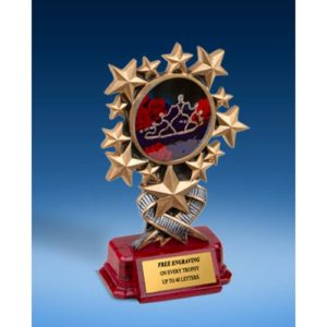 Beauty Queen Resin Starburst Award