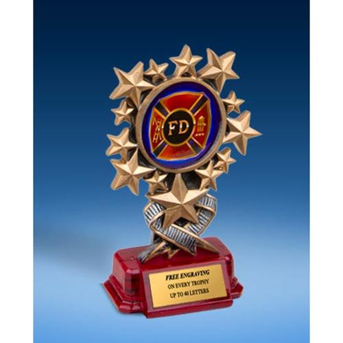Fire Department Resin Starburst Award