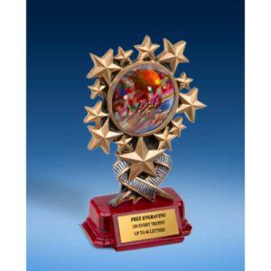 Football 2 Resin Starburst Award