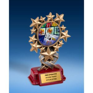 Poker Resin Starburst Award