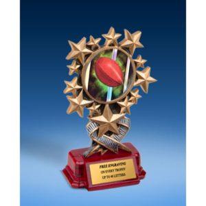 Rugby 1 Resin Starburst Award
