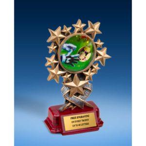 Soccer 3 Resin Starburst Award