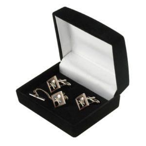 Skull & Crossbones Cufflinks & Tie-Tack Set