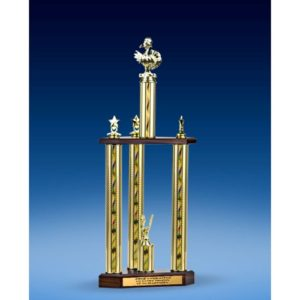Turkey Sport Figure Three-Tier Trophy 28""