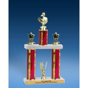 Turkey Sport Figure 2 Tier Trophy 19""