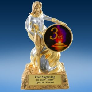 3rd Place Lady Hero Resin