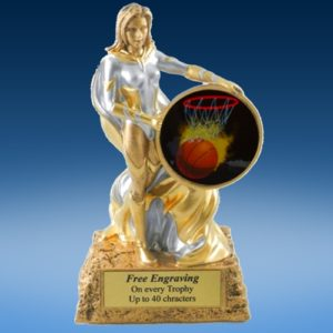 Basketball 1 Lady Hero Resin