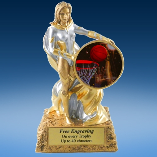 Basketball 2 Lady Hero Resin