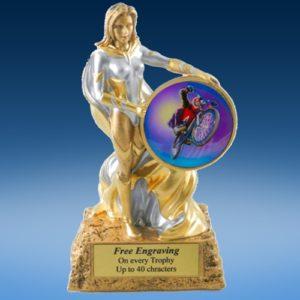BMX Lady Hero Resin