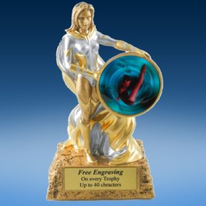 Diving Female Lady Hero Resin