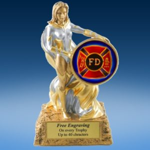 Fire Department Lady Hero Resin