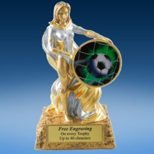 Soccer 1 Lady Hero Resin