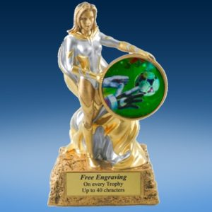 Soccer 3 Lady Hero Resin