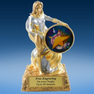 Sportsmanship Lady Hero Resin