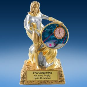 Swimming Lady Hero Resin