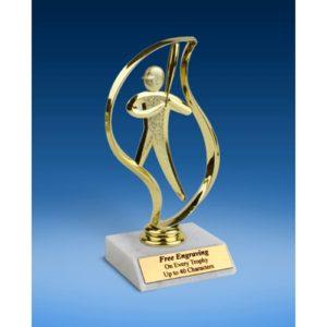 "Baseball Torch Figure Trophy 6"""