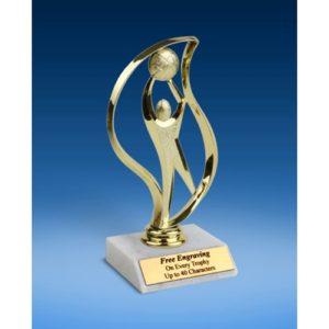 "Basketball Torch Figure Trophy 6"""
