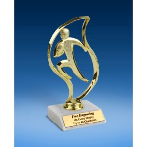 Football Torch Figure Trophy 6""