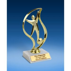 Soccer Torch Figure Trophy 6""