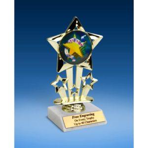 """All Star Quad Star Mylar Holder Trophy 6"""""""