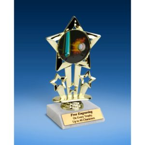 Baseball 1 Quad Star Mylar Holder Trophy 6""