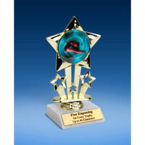 """Diving Female Quad Star Mylar Holder Trophy 6"""""""