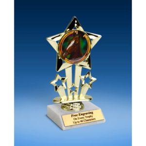 "Horse Quad Star Mylar Holder Trophy 6"""
