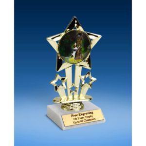 "Hunting Quad Star Mylar Holder Trophy 6"""
