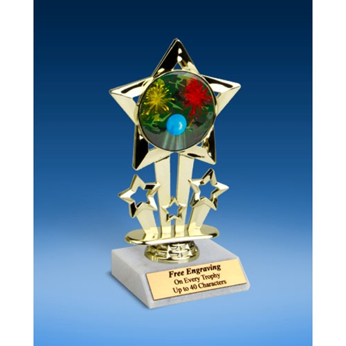 Paintball Quad Star Mylar Holder Trophy 6""