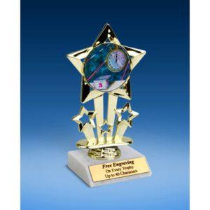 "Swimming Quad Star Mylar Holder Trophy 6"""