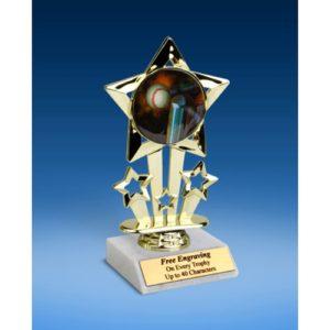"T-Ball Quad Star Mylar Holder Trophy 6"""