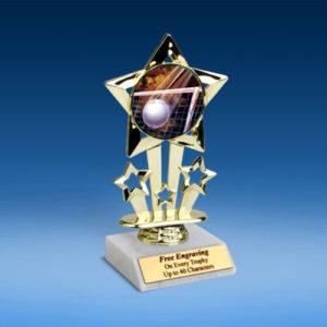 "Volleyball Quad Star Mylar Holder Trophy 6""-0"