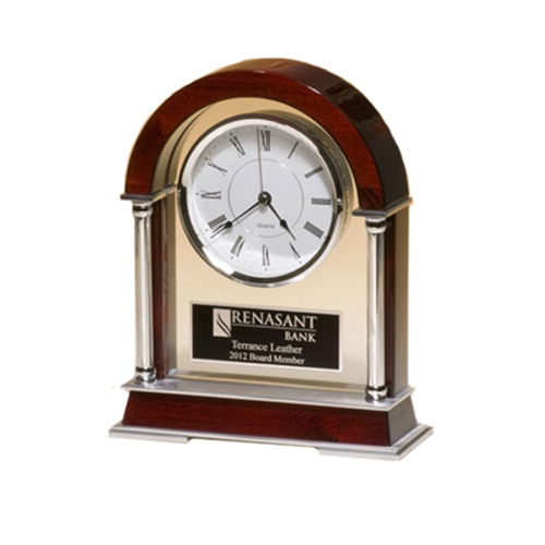 Rosewood Piano Finish Accent Clock