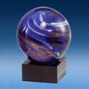 Swirl Art Glass Globe Award-0
