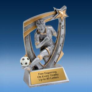 Soccer Male 3D Star Resin