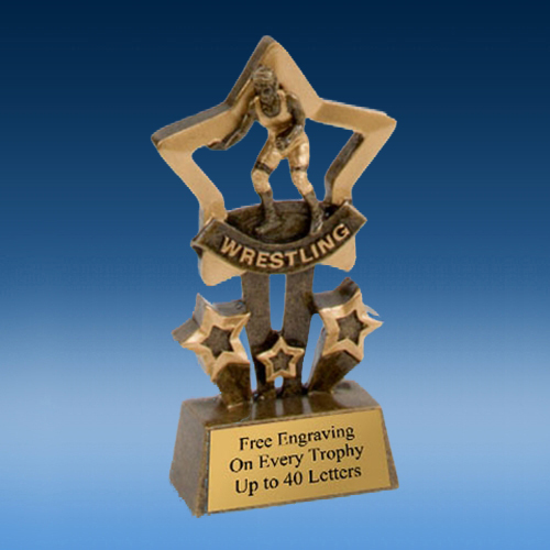 Wrestling Quad Star Resin
