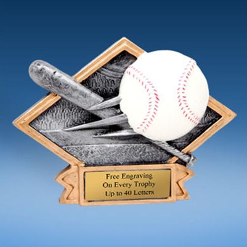 Baseball Diamond Resin Plate